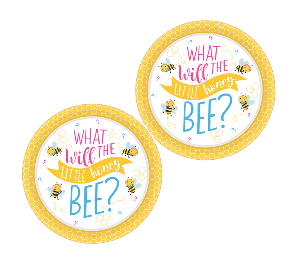 Gender Reveal What Will it Bee Paper Plates