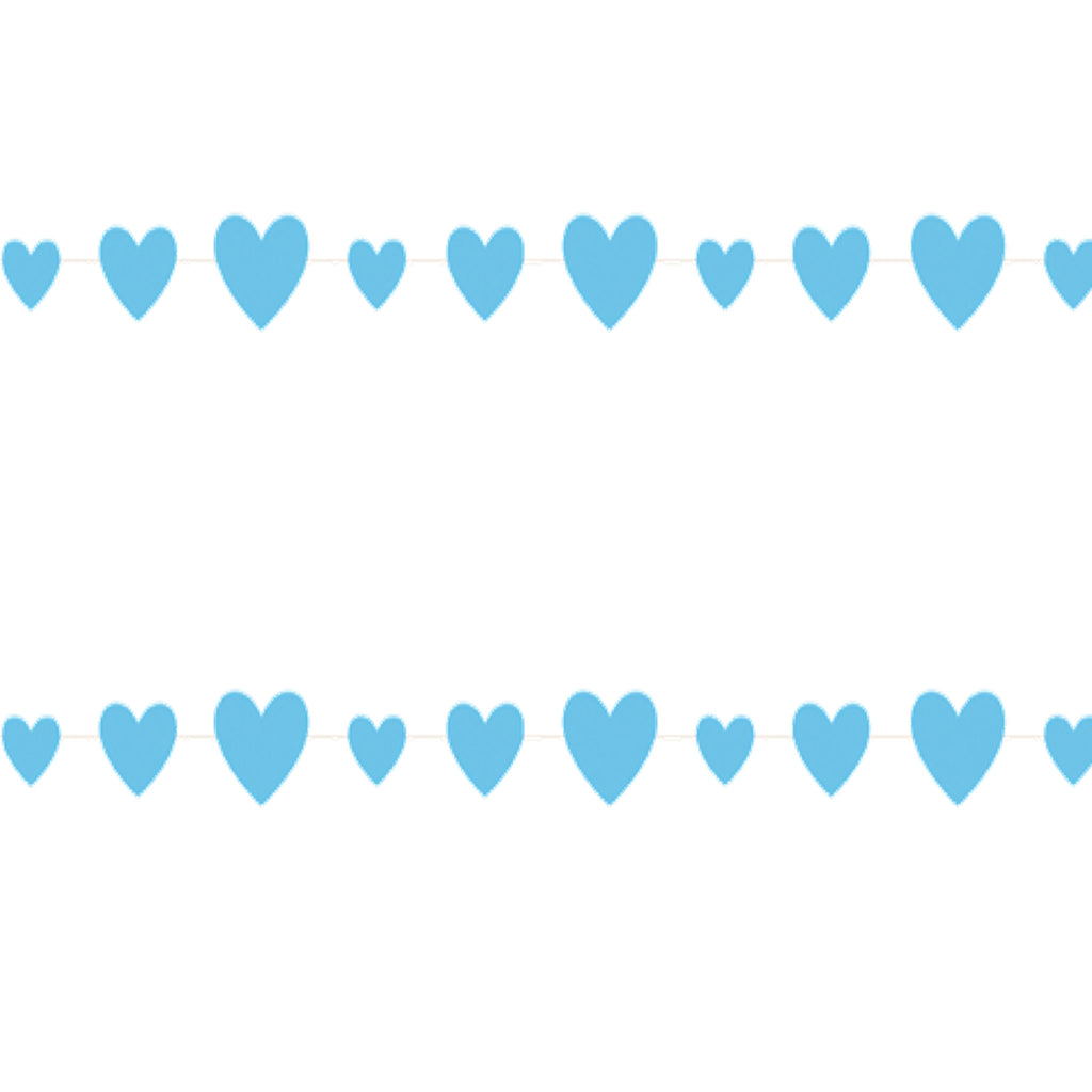 Blue Paper Heart Hanging Garland