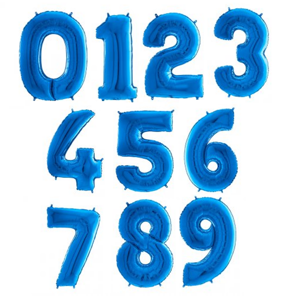 Blue Large Foil Number Balloons