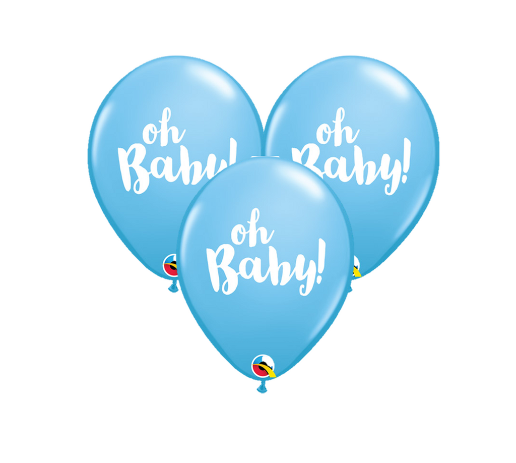Oh Baby Blue Latex Balloons