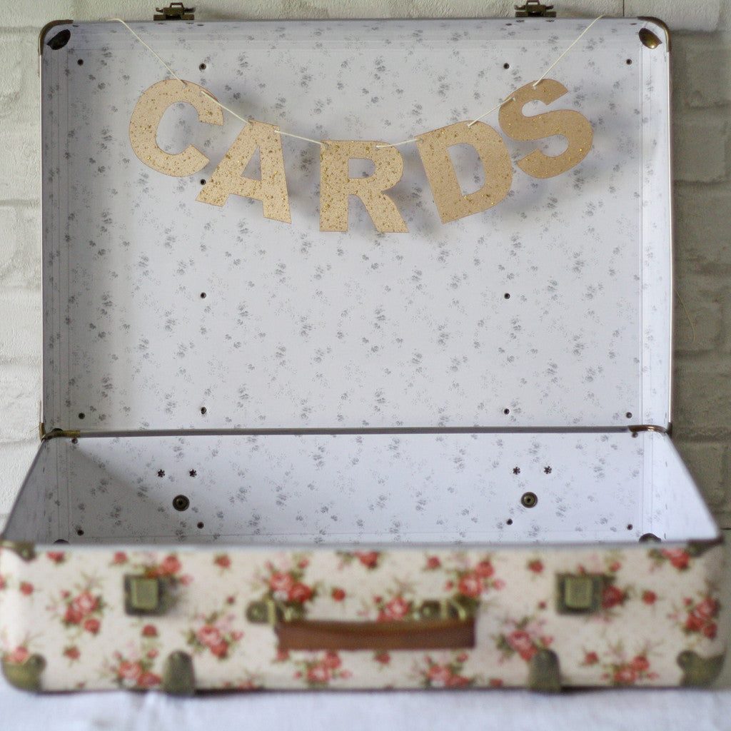Gold or Silver Glitter CARDS Garland - The Party Postman
