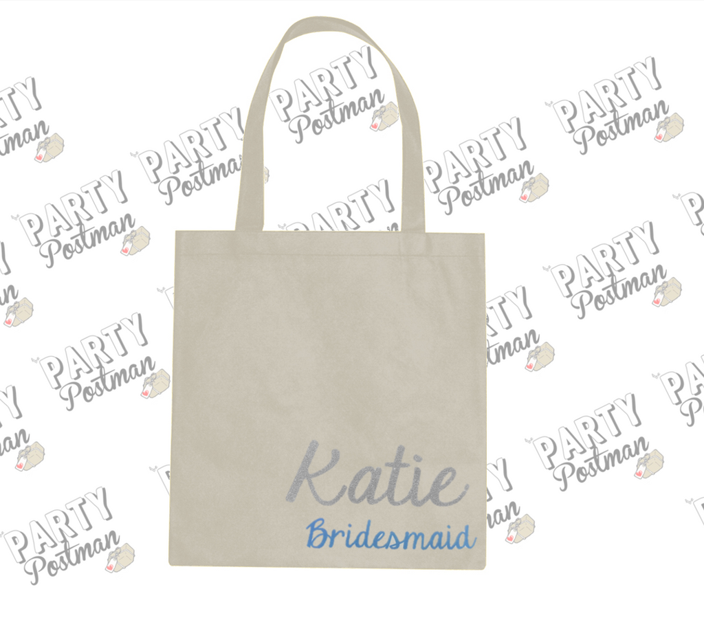 Party Postman Party Totes! Personalised Bridesmaid Canvas Bag for Gift or Proposal