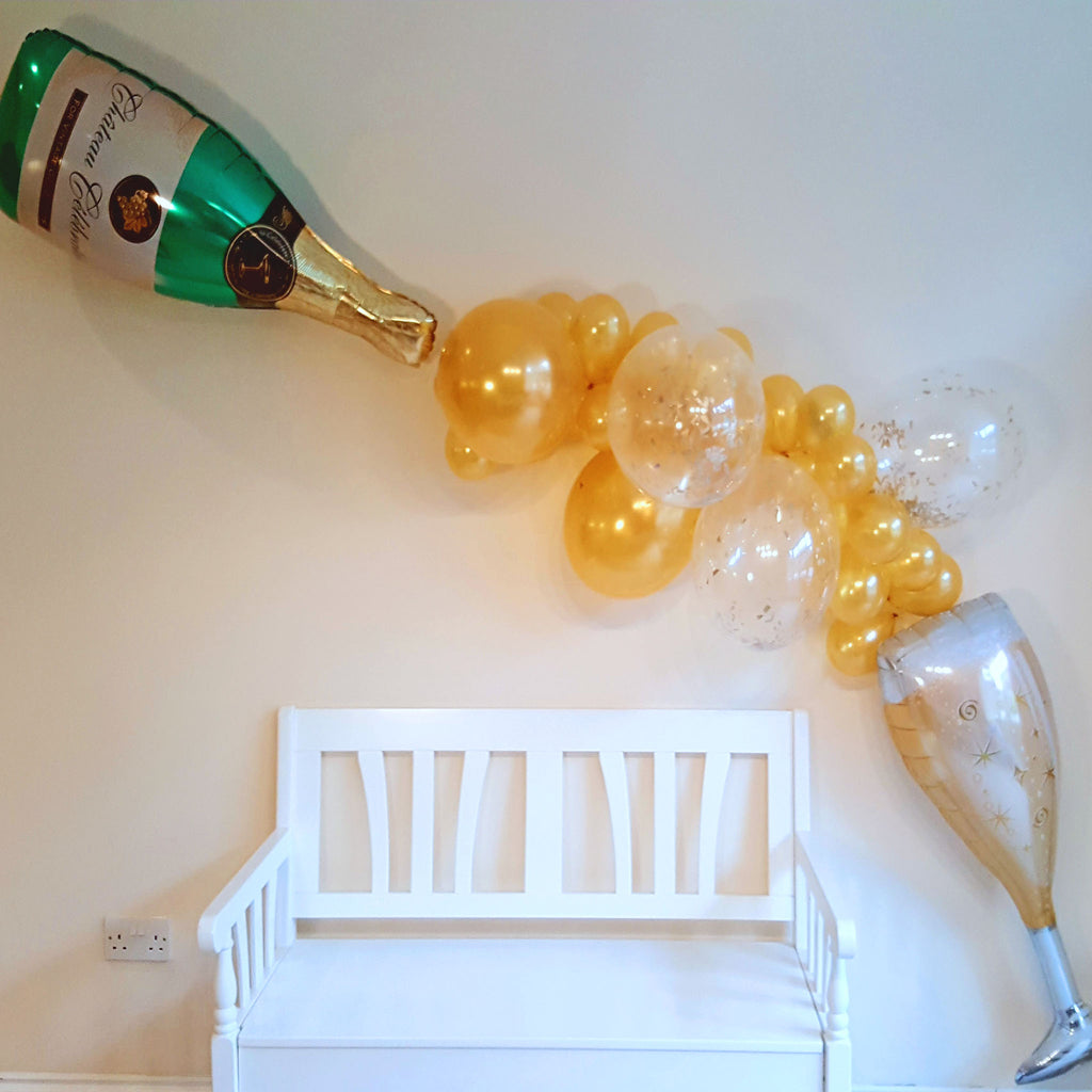 Champagne and Wine Gold Balloon Garland