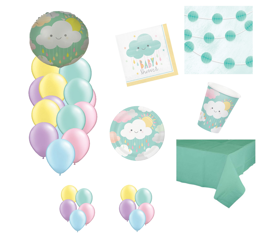 Cloud Baby Shower Party Packs