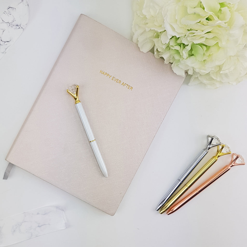 Bride Diamond Pens Desk Accessories Bridal party gift Pen Diamond Pens Cute Pens Pretty Pens Office Gifts Boss Gifts Office Supplies gold