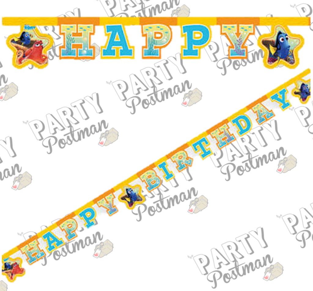 Finding Dory Happy Birthday Banner - The Party Postman