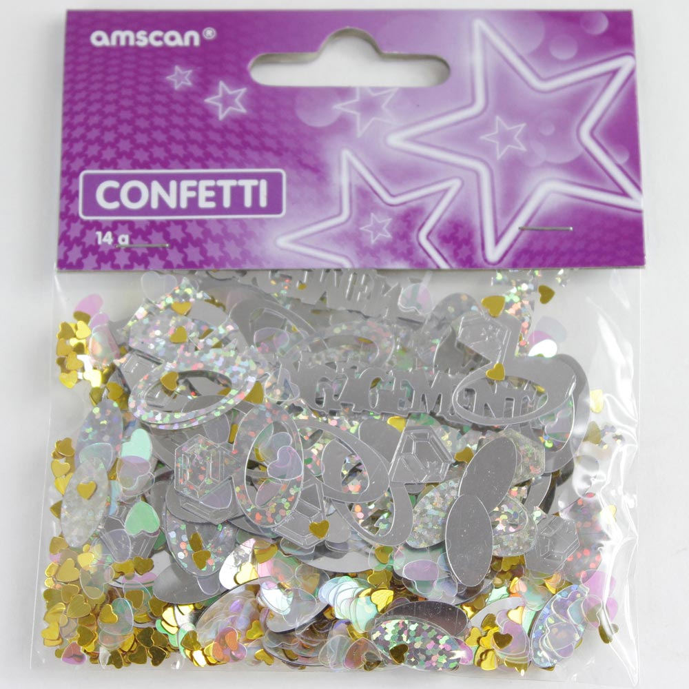 Metallic Engagement Confetti