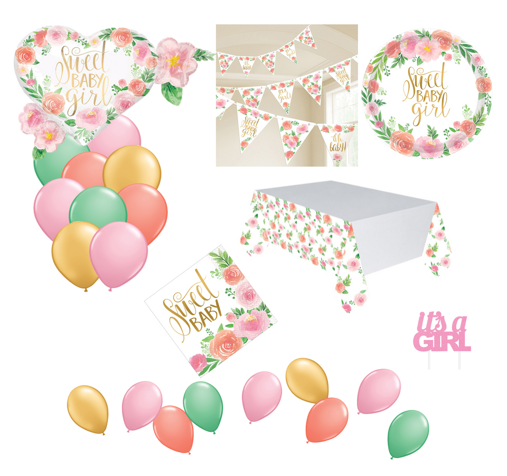 Floral Baby Shower Party Packs