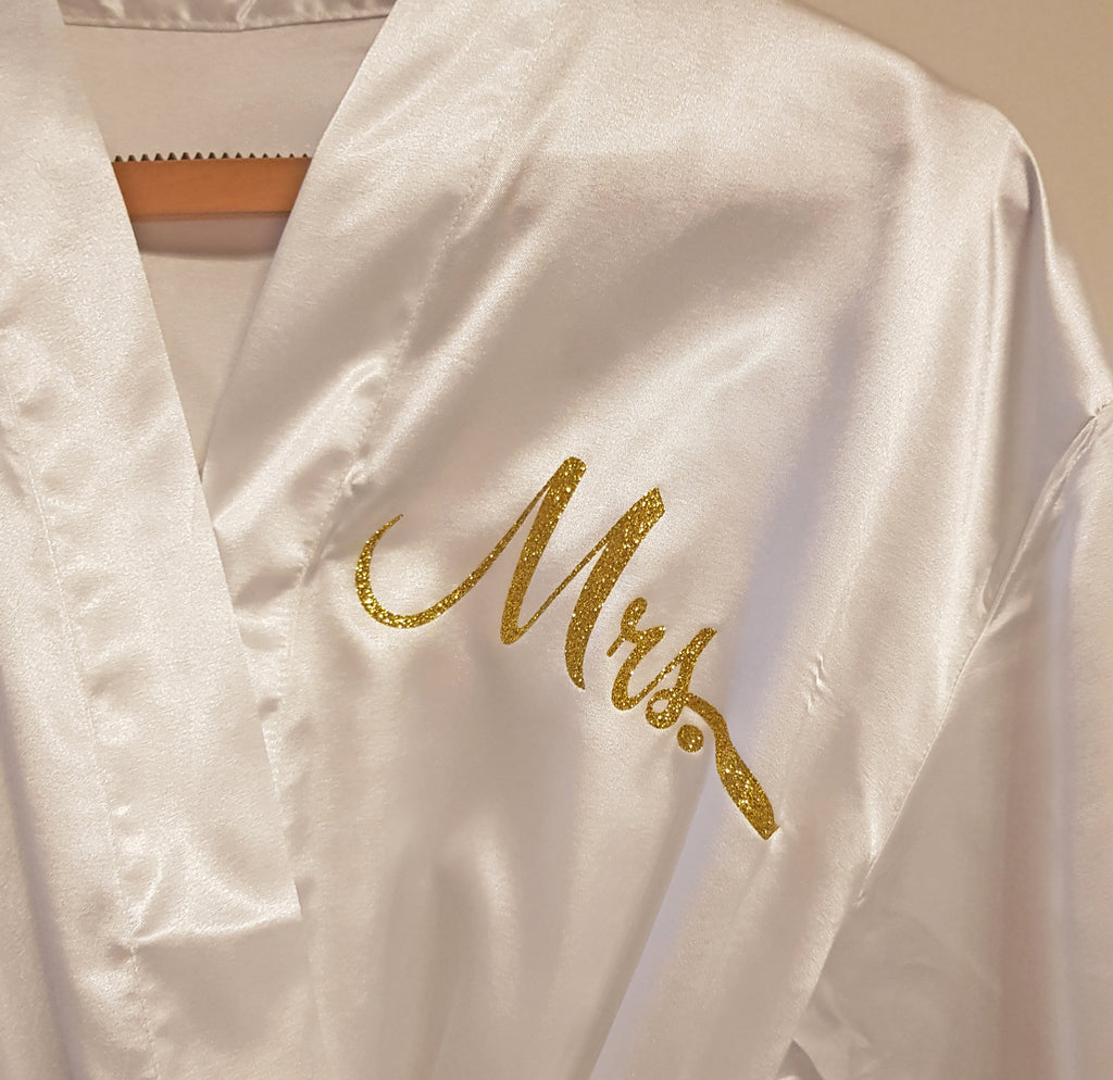 Yellow Floral Personalised Bridesmaid / Bridal Robe