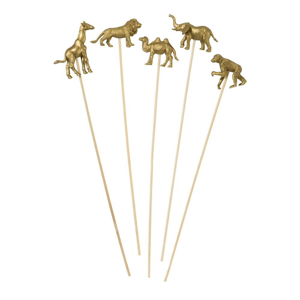 Gold Animal Party Cocktail / Food Stirrers