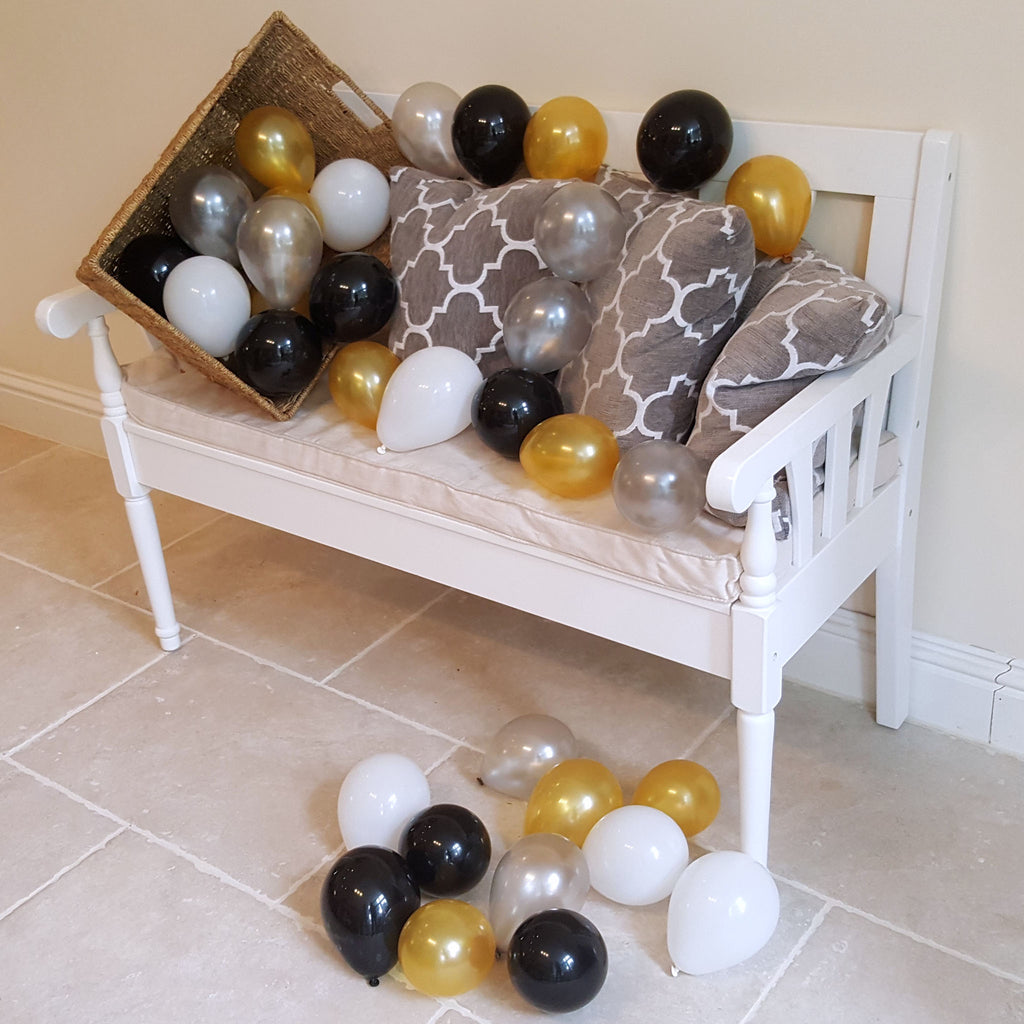 Mini Black, White, Silver and Gold Air Fill Only Balloons