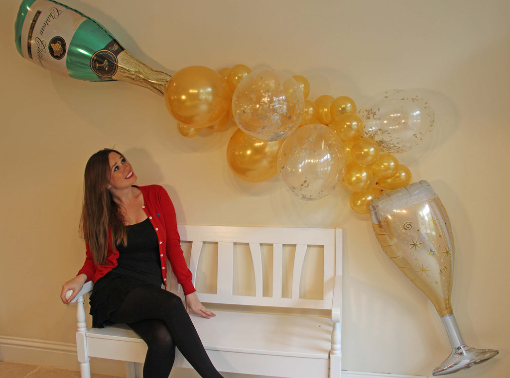 Champagne and Wine Gold Balloon Garland - The Party Postman