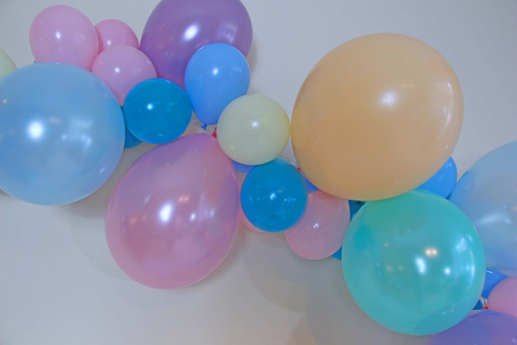Pretty in Pastel Balloon Garland (Light Blue, Light Pink, Lilac, Mint and Cream) - The Party Postman
