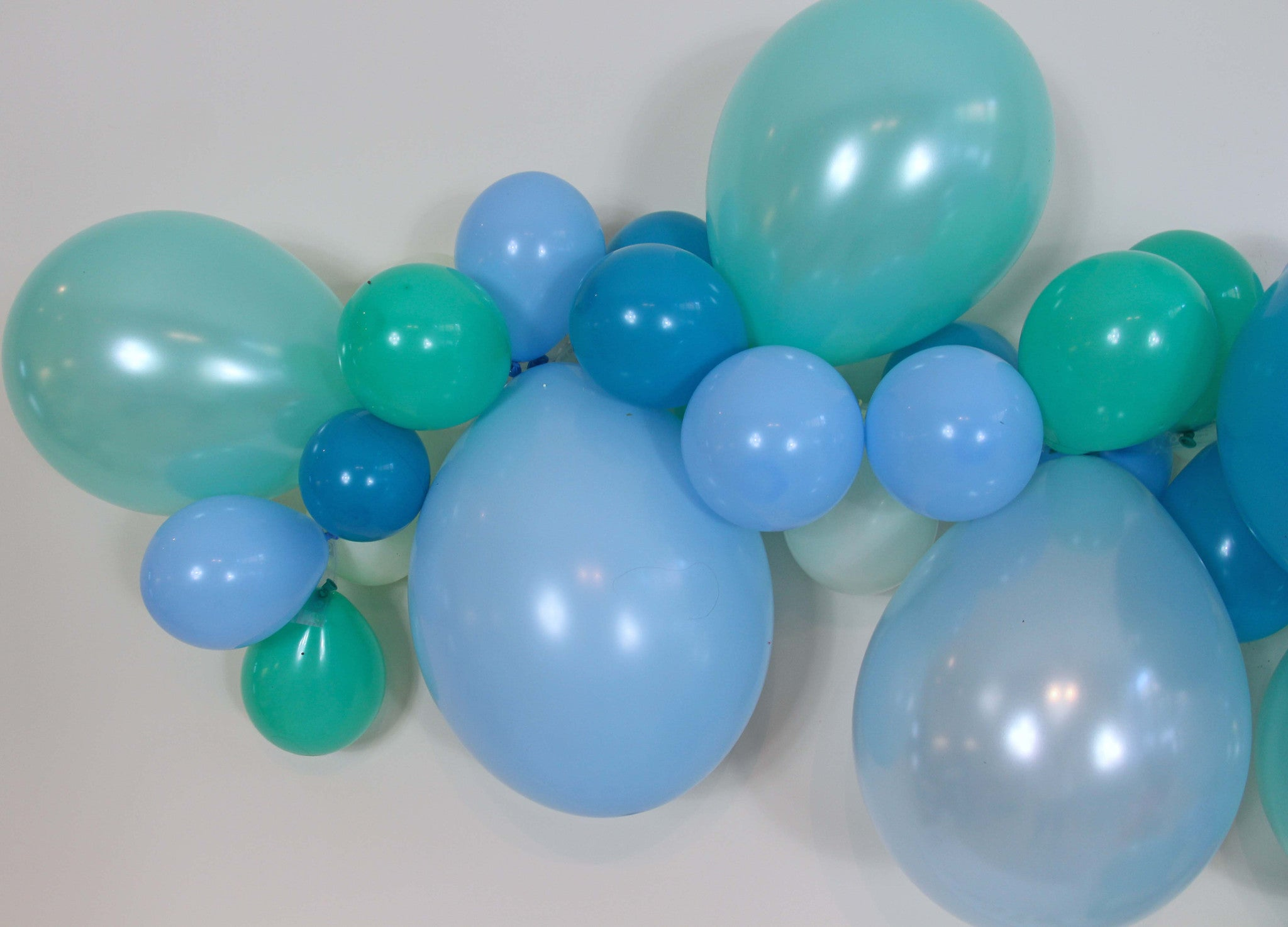 Frosty Balloon Garland Mint Teal Light Blue Blue The Party Postman