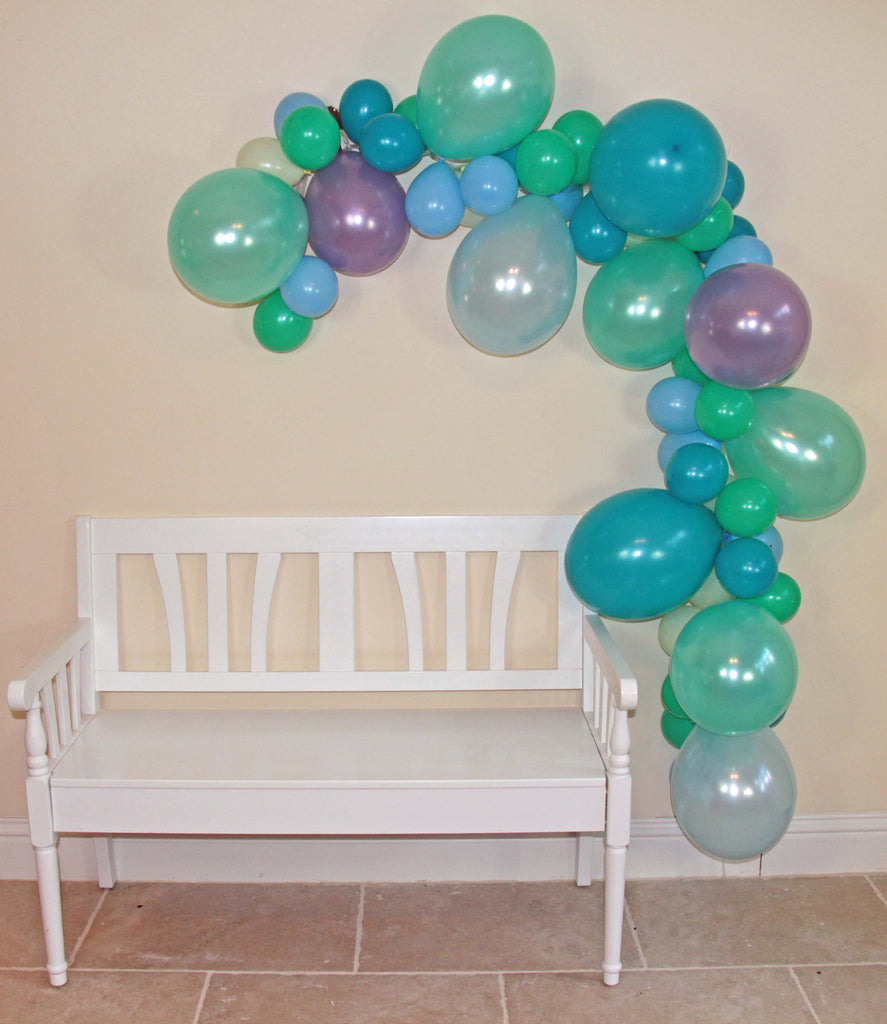 Mermaid Balloon Garland (Purple, Blue, Teal, Mint) - The Party Postman