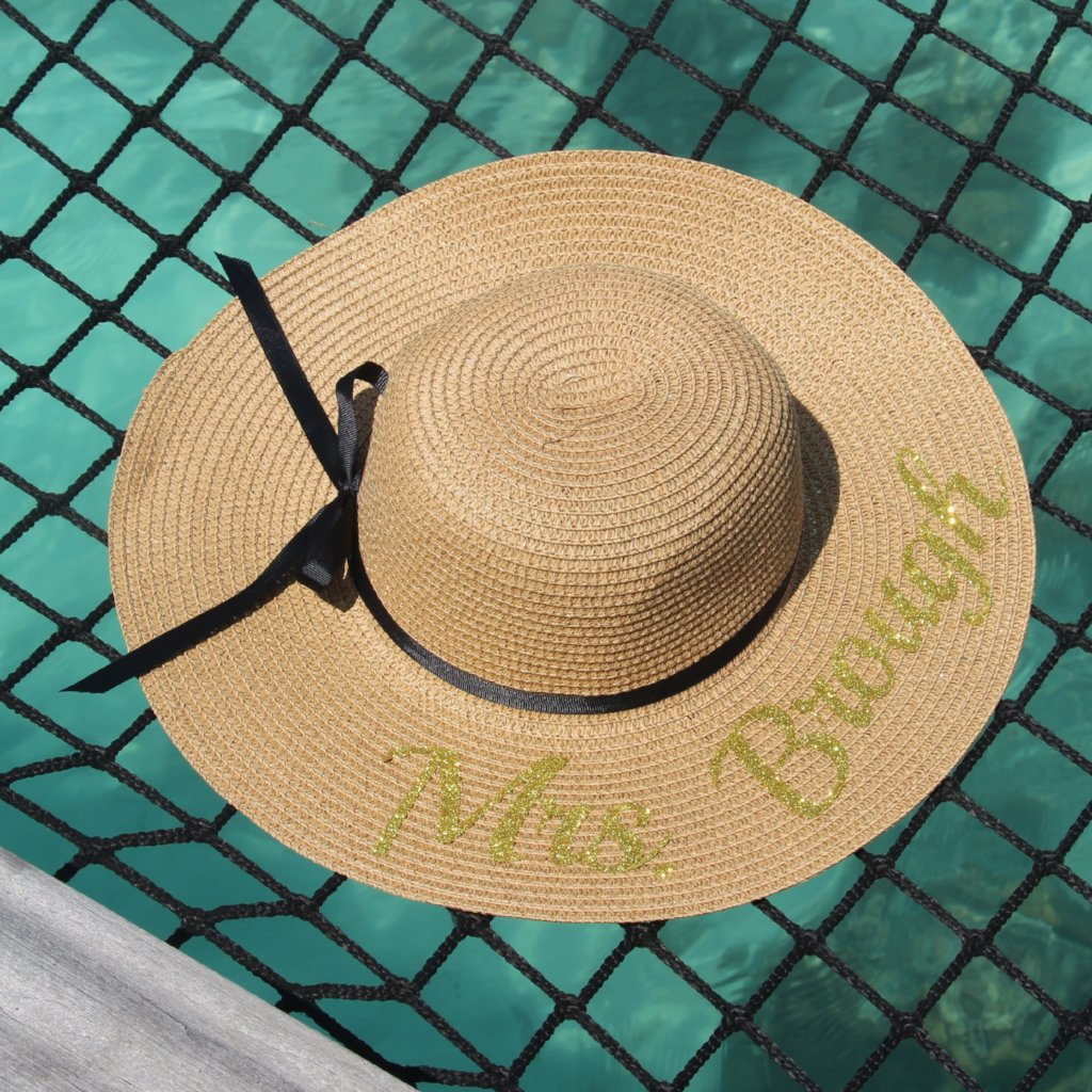 Honeymoon Hats - Personalized Sun Hats with your name or phrase