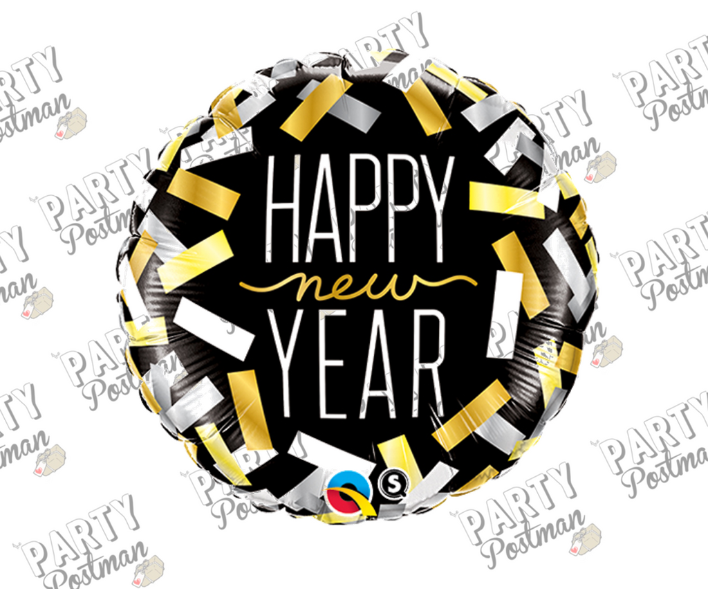 "18"" Confetti Happy New Year Foil Balloon"