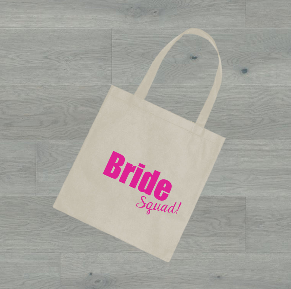 Party Postman Party Totes! Bride Squad Canvas Bag for Gift or Bridesmaid Proposal