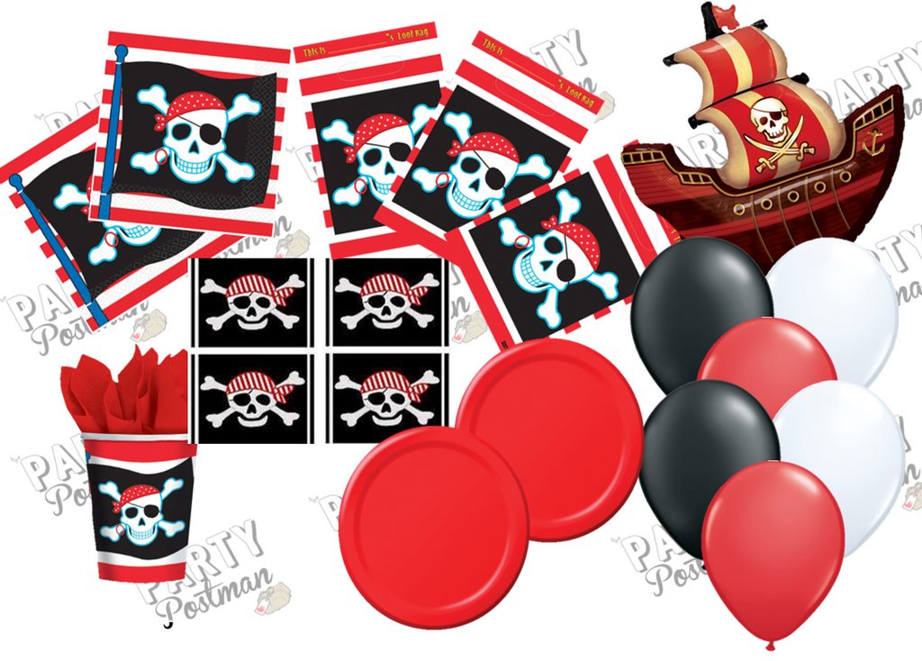 Pirate Party Decoration Pack and Accessories - The Party Postman