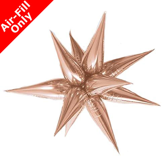 "40"" Rose Gold Starburst Foil Balloon"