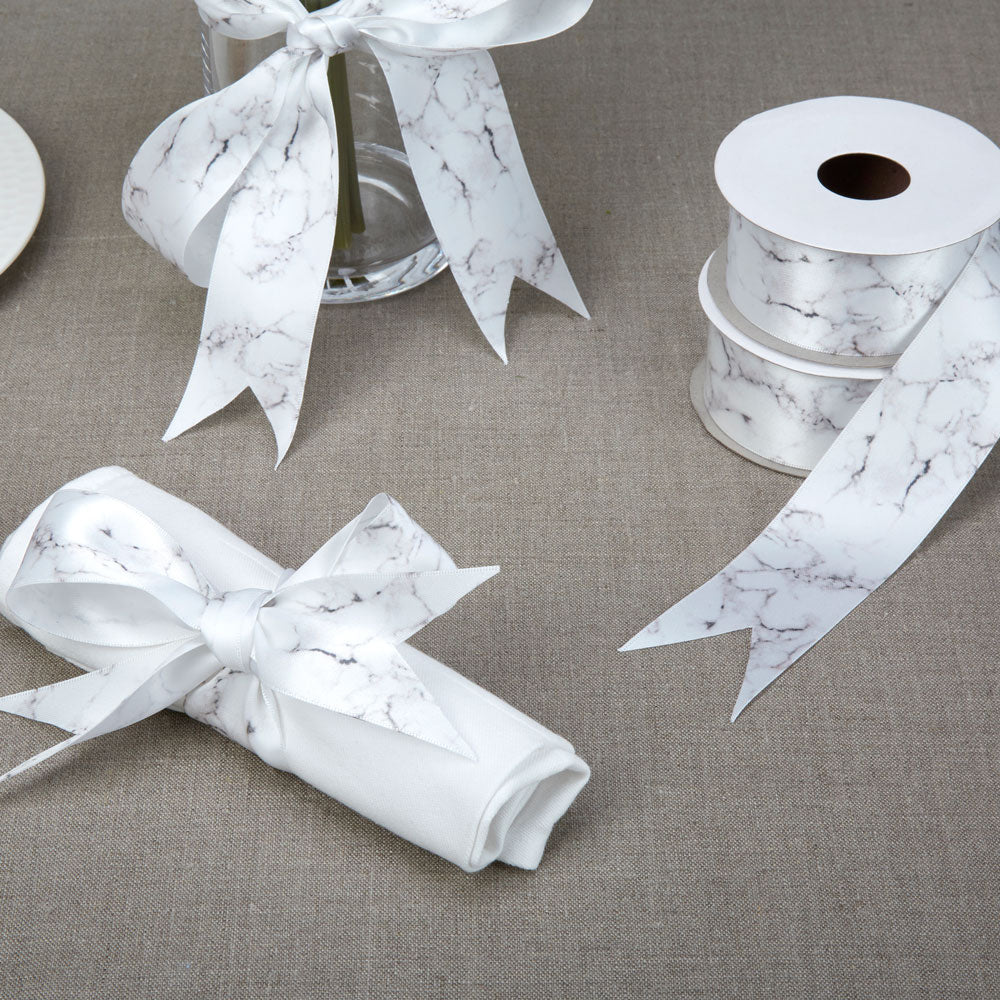 Marble Printed Ribbon for weddings and presents