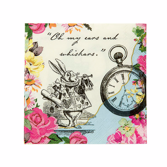 Alice In Wonderland Mad Hatter Themed Napkins - The Party Postman