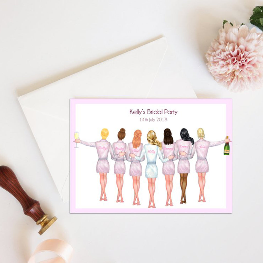 "Personalized ""Will you be my Bridesmaid"" Proposal cards customized to your requirements Ask Bridesmaids, Maid of Honor Card"