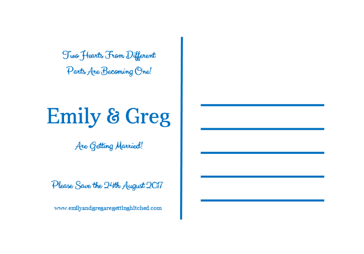 Destination Theme Save the Date Invite - Double Sided