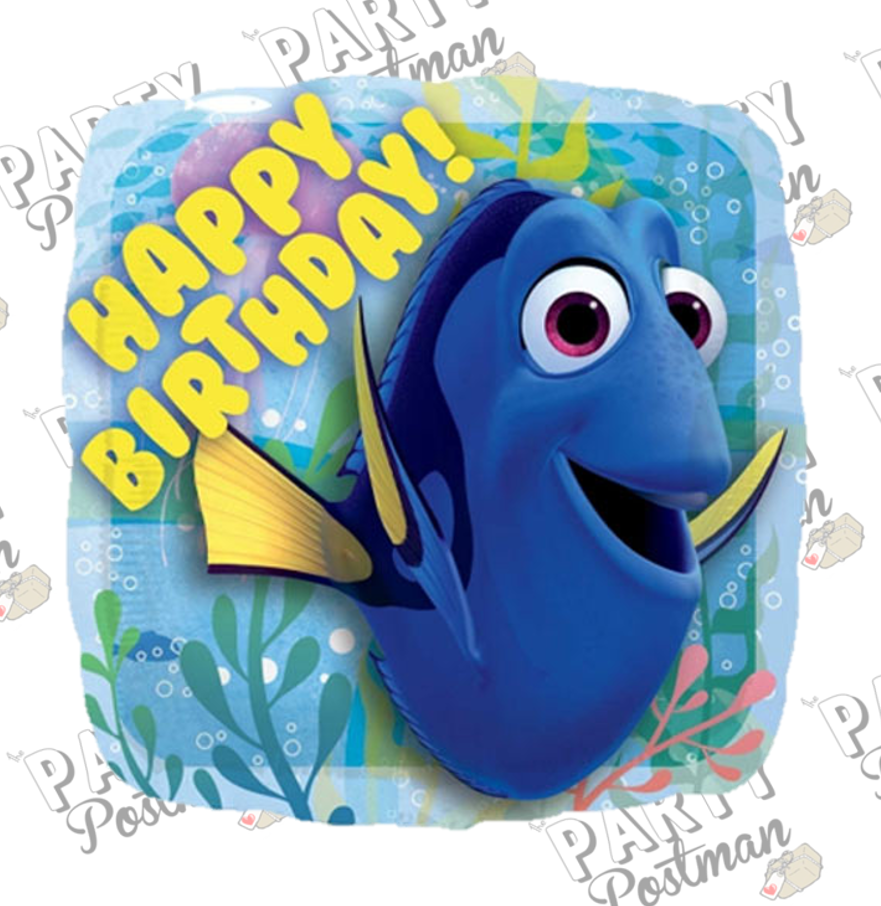 "18"" Finding Dory Party Foil Balloon - The Party Postman"