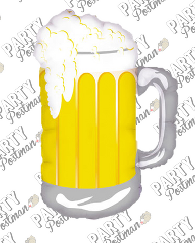 Giant Beer Mug Foil Balloon - The Party Postman