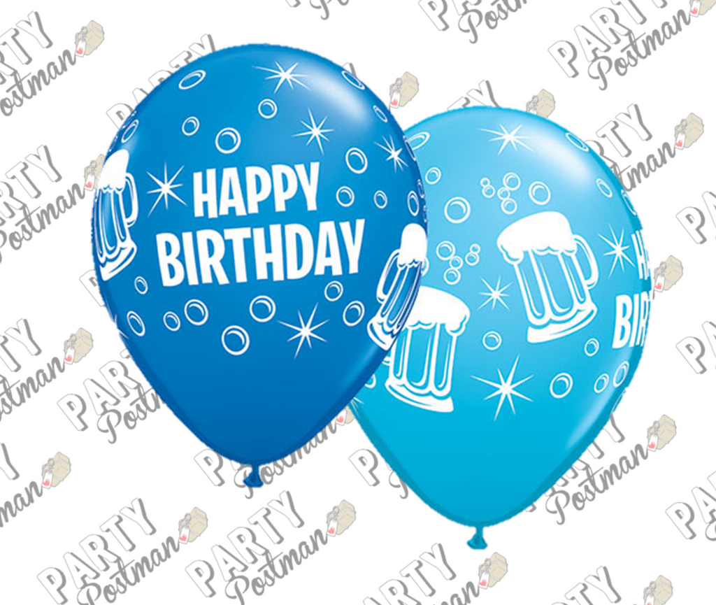 Blue Beer Birthday Balloons - The Party Postman