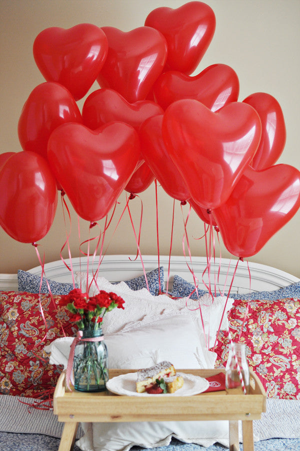 Red Latex Heart Balloons - The Party Postman