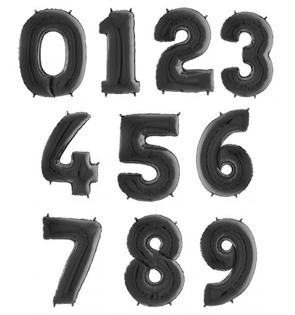 Black Large Foil Number Balloons