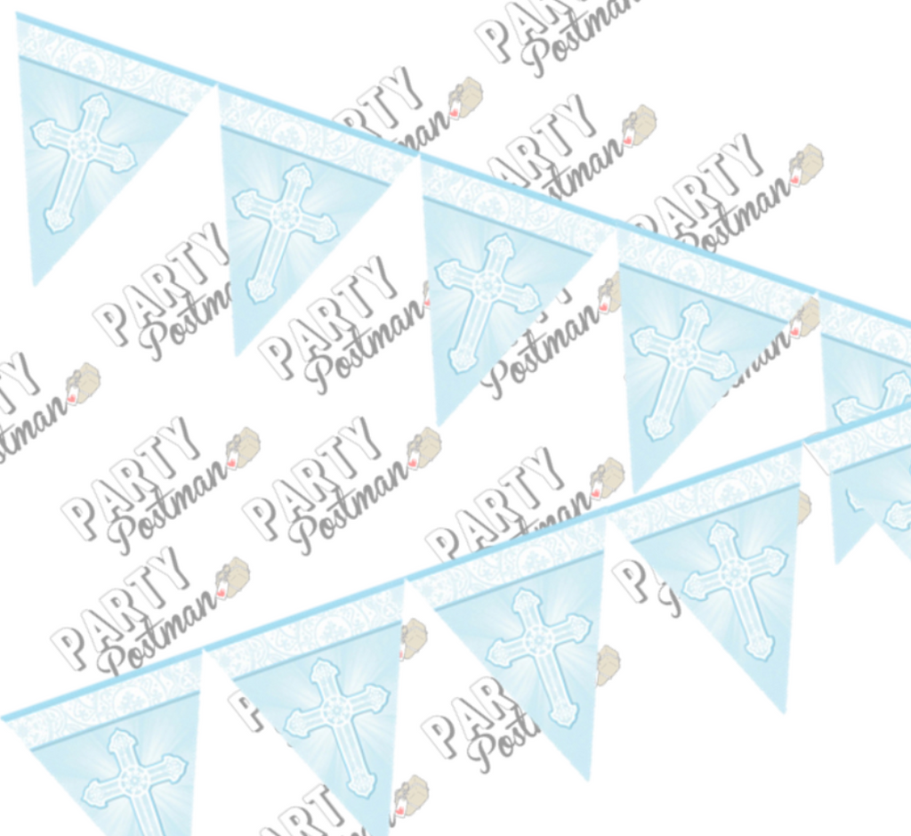 Blue Christening Garland - The Party Postman