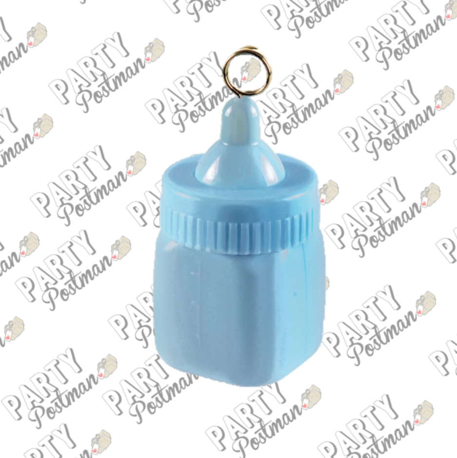 80g Pastel Blue Baby Bottle Balloon Weight - The Party Postman