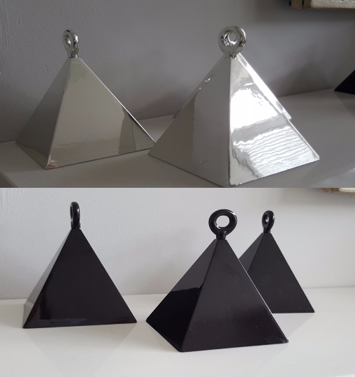 Silver Pyramid Balloon Weights for Large or Multiple Ballons - The Party Postman