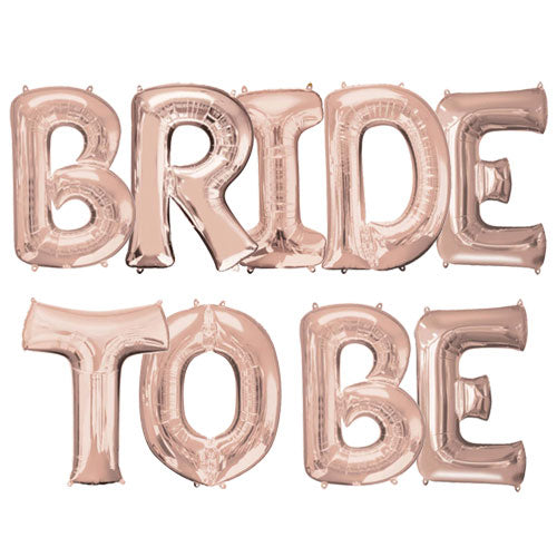 Bride to Be Rose Gold Balloon Banner