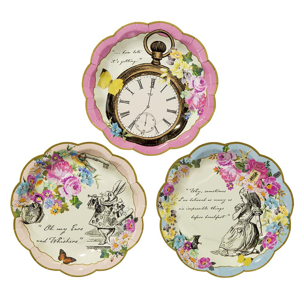 Alice in wonderland Paper Plates - The Party Postman