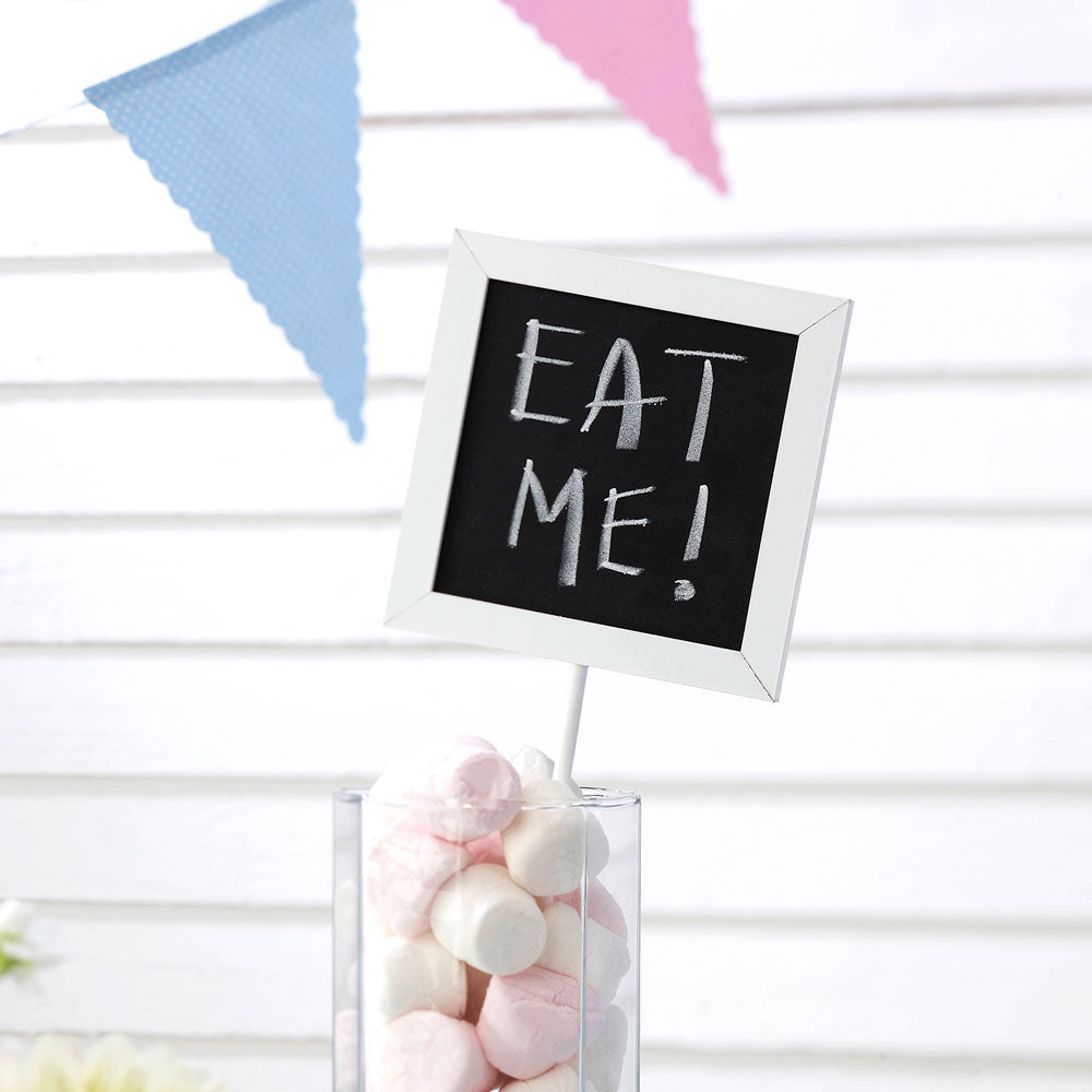 Set of 5 Chalkboard Squares for Table Numbers