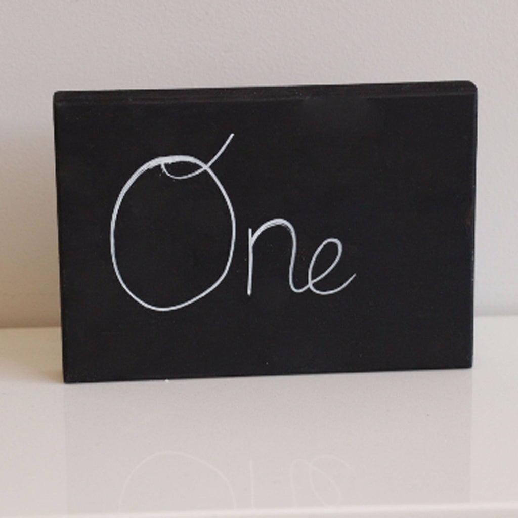 Chalkboard Block for Table Number on a Rustic Tablescape