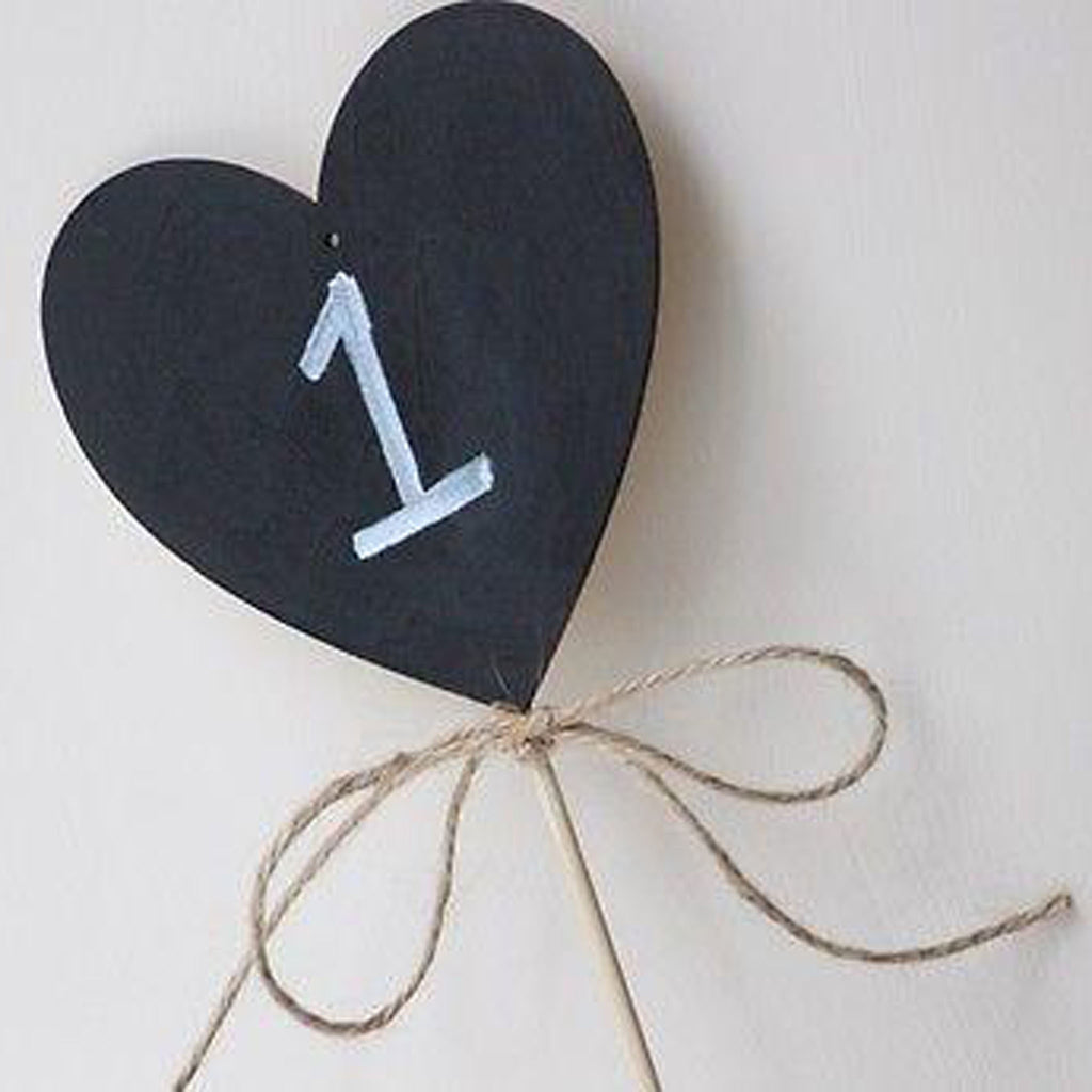 Large Chalkboard Heart With Twine