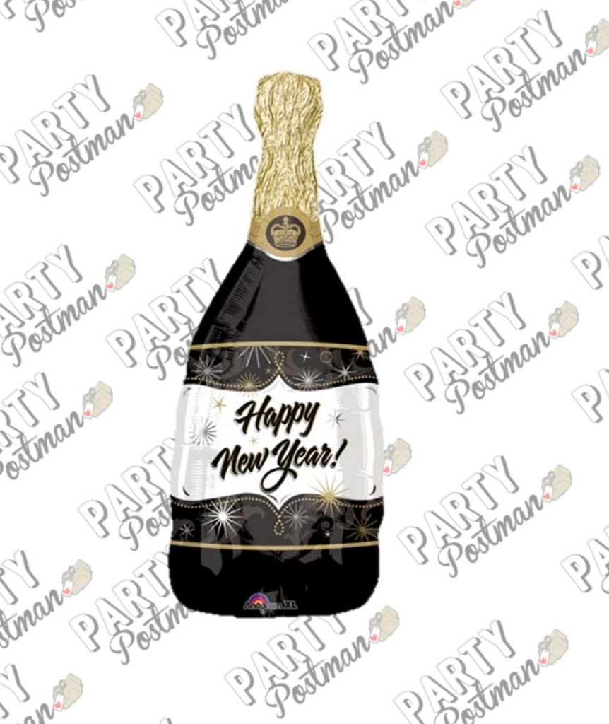 "36"" Champagne Bottle Foil Balloon - The Party Postman"