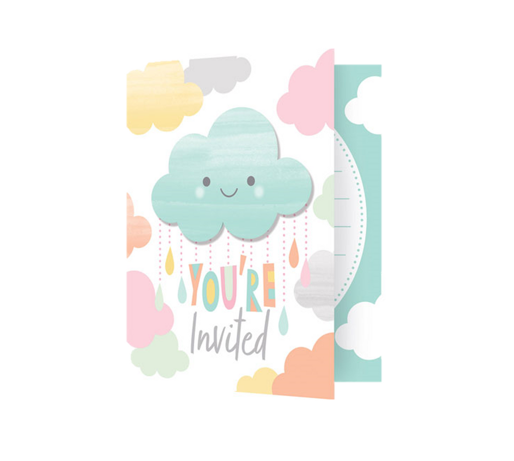Cloud Baby Shower Invites