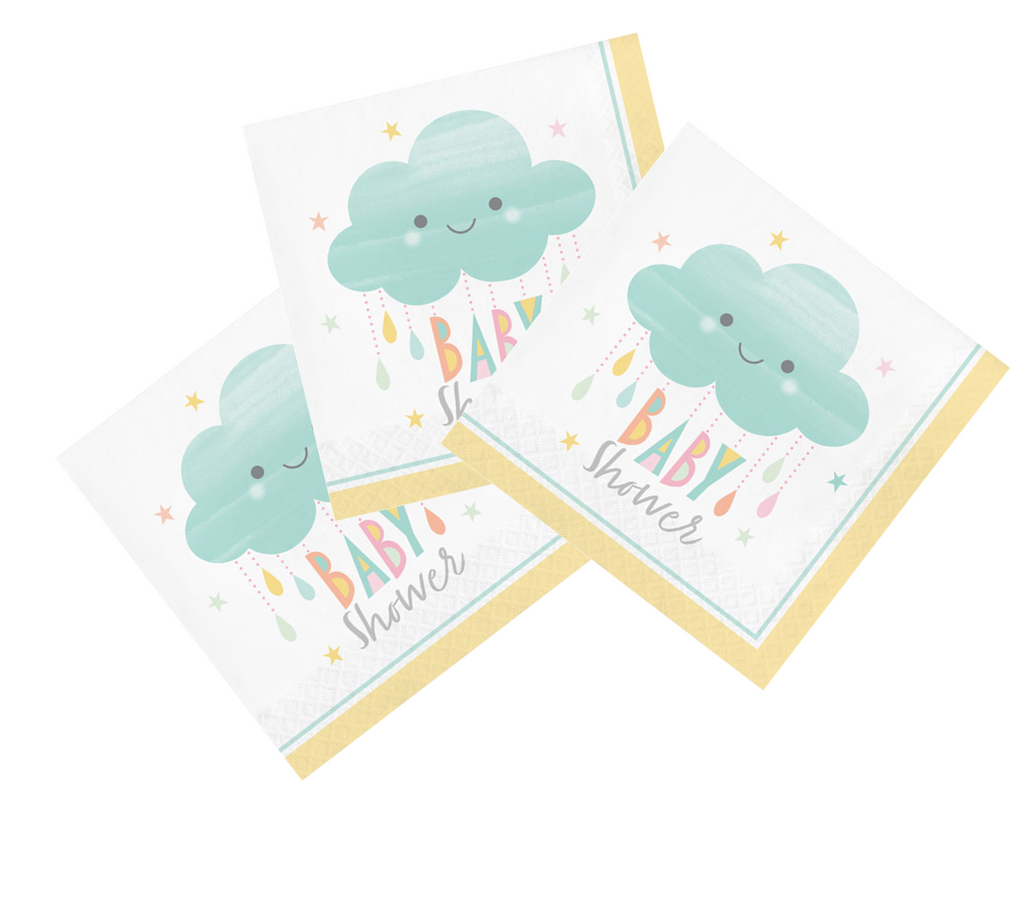 Cloud Baby Shower Napkins