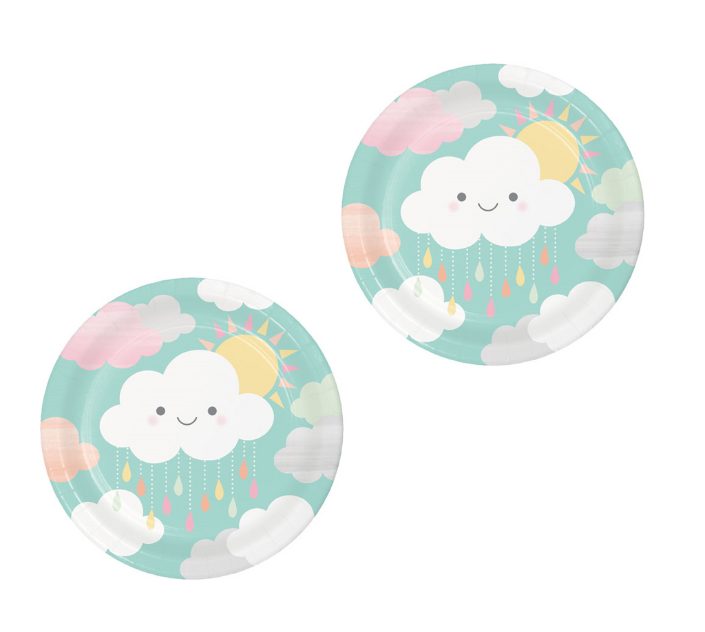 Cloud Baby Shower Plates