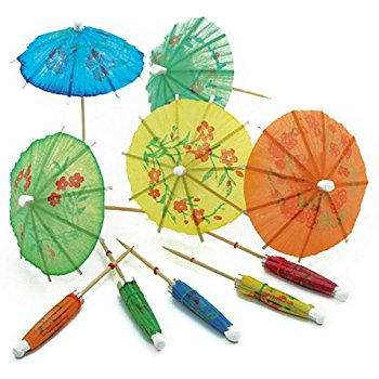 Paper Tropical Cocktail Umbrellas