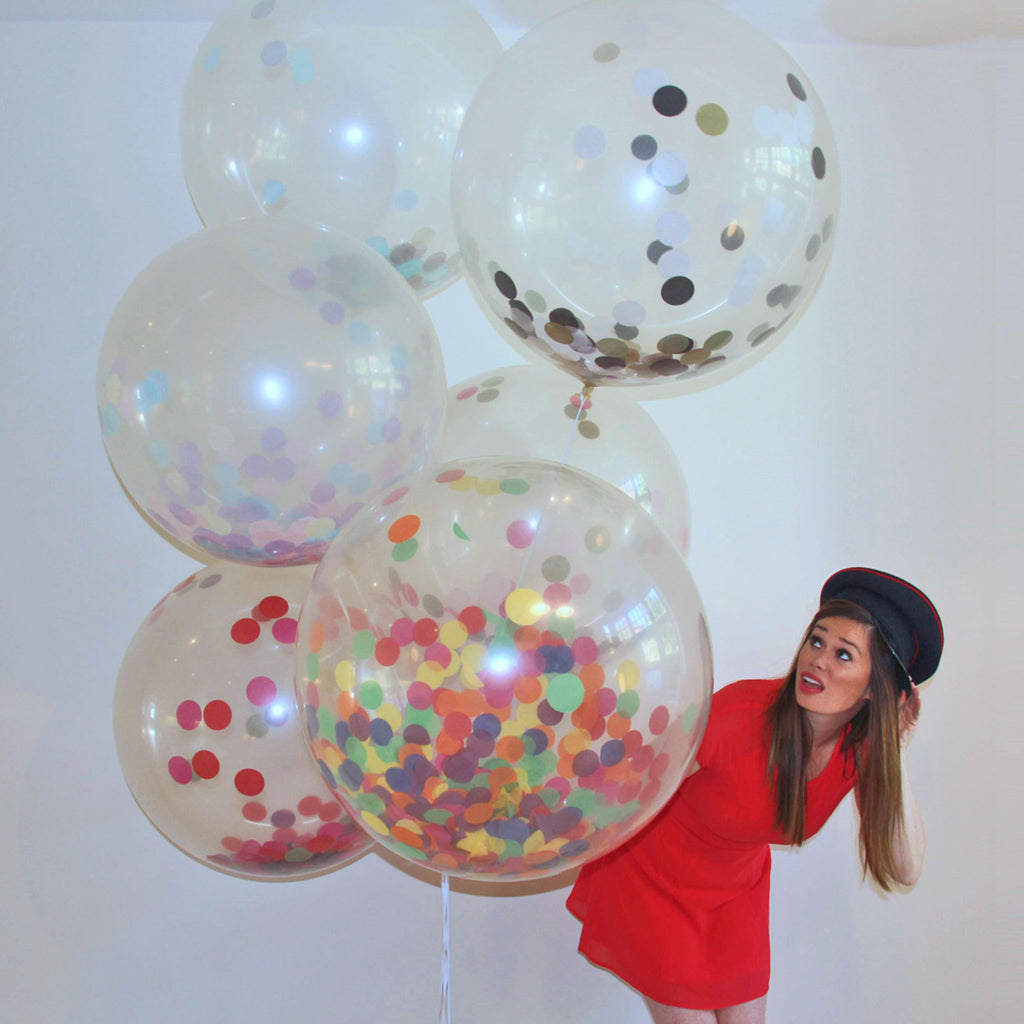 Confetti Filled Giant Round Clear Balloons