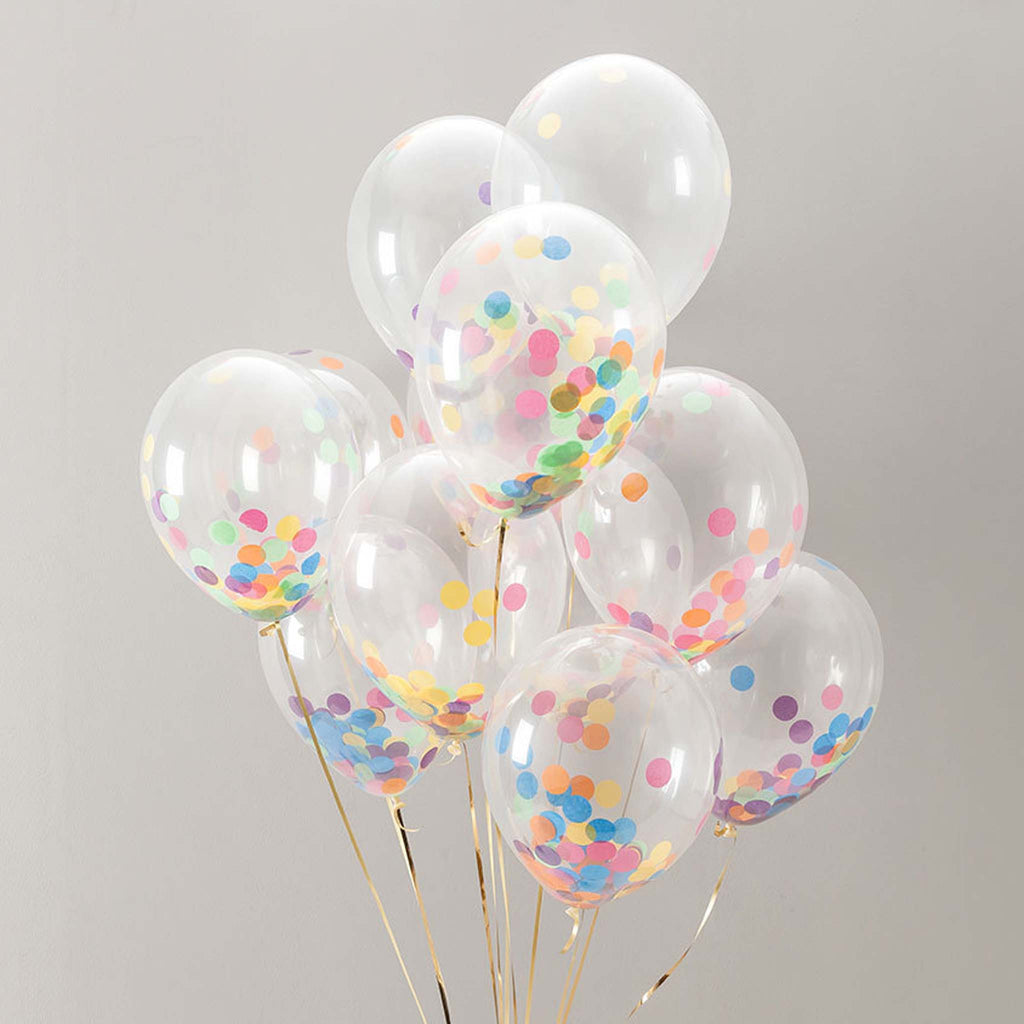 "16"" Clear Balloons With Confetti"