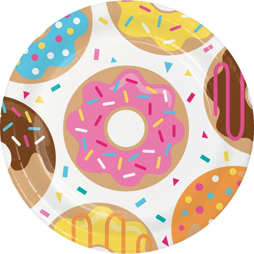 Donut Party Paper Plates
