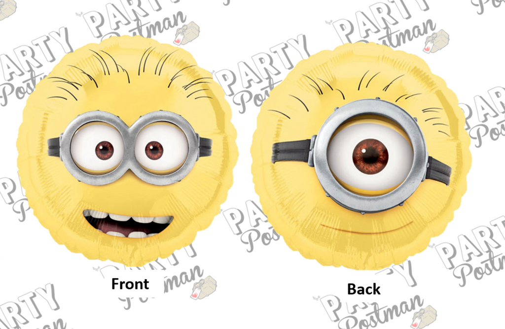 "18"" Double Sided Minion Party Foil Balloon - The Party Postman"